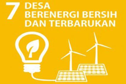 SDGs Desa Nomor 7 : Desa Berenergi Bersih Dan Terbarukan Tahun 2021