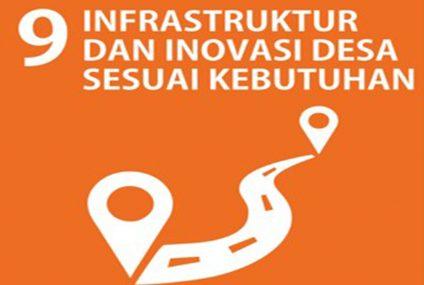 SDGs Desa Nomor 9 : Infrastruktur Dan Inovasi Desa Sesuai Kebutuhan Tahun 2021