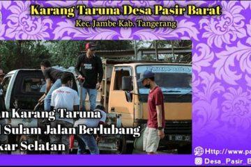 Kegiatan Karang Taruna Desa Pasir Barat Kec. Jambe Kab. Tangerang