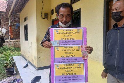 Penyaluran Bantuan Langsung Tunai Dana Desa BLT-DD Tahap 3,4 dan 5 Tahun Anggaran 2021